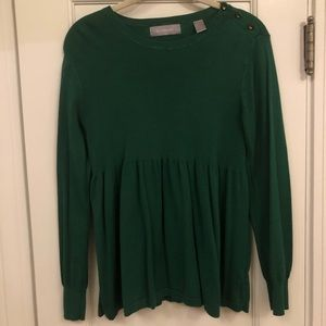 Liz Claiborne forest green sweater small